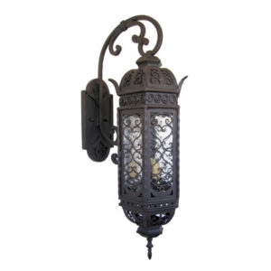 Outdoor Iron Lantern Aviva Wall Bracket