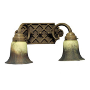 Wrought Iron Wall Sconce Adigio Double Shade