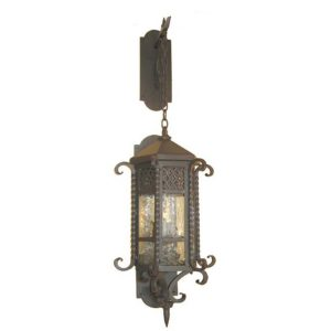Outdoor Iron Lantern Andalucia W/b Chain Hung