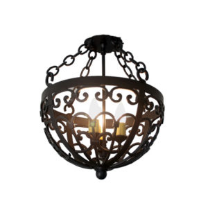 Iron Chandelier Basque Pendant