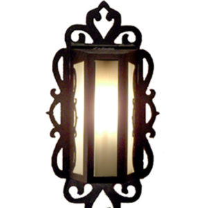 Outdoor Iron Lantern Mariposa Flush Mount